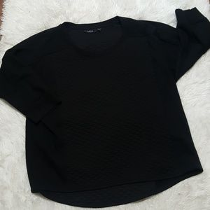 Apt. 9 Tops - Quilted Black top (New Listing)
